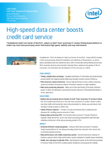 High-Speed Data Center Boosts Credit Card Service