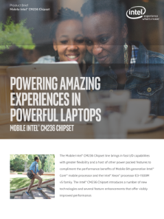 Mobile Intel® CM236 Chipset Product Brief