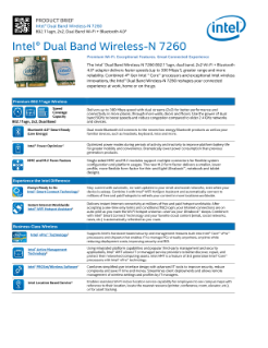 Intel® Wireless-N 7260: Product Brief