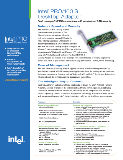 Intel® PRO/100 S Desktop Adapter