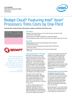 Redapt Cloud* Featuring Intel® Xeon® Processors Trims Costs by One-Third