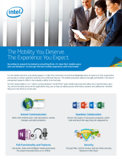 Empowering Mobile Executives with Intel® Inside