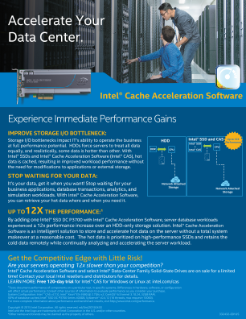 Intel® CAS Accelerates Your Data Center