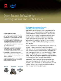 Open Source Software for  Building Private and Public Clouds