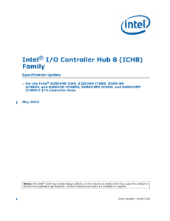 Intel® ICH8 Family EDS Specification Update