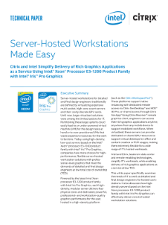 Server-Hosted Workstations Made Easy