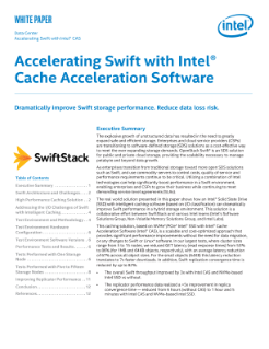Intel® Solid State Drive with Intel® CAS Accelerating Swift* Whitepaper