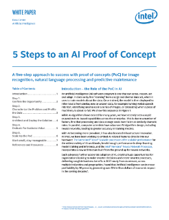 Intel's 5 Step AI PoC Program