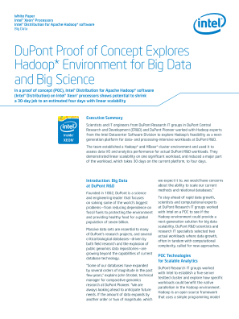 DuPont Eyes Hadoop* for Bioscience Data Growth
